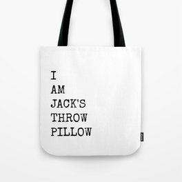 Jack's Throw Pillow Tote Bag