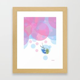 Falling Out Of Sleep Framed Art Print