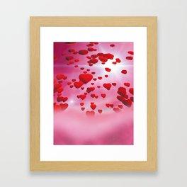 Sky is full of love Framed Art Print