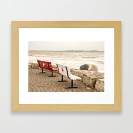Canadian Benches Framed Art Print