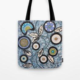 Lovely Flowers Blue Tote Bag