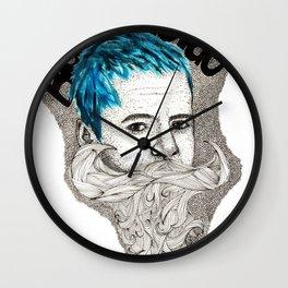 Beardo Wierdo Wall Clock