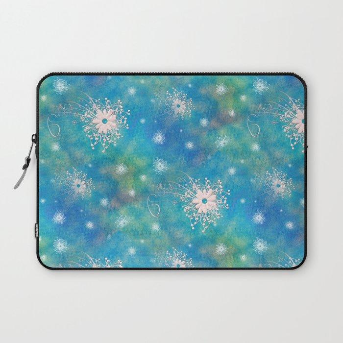 Blues Rainbow Florals Laptop Sleeve
