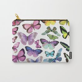 Butterfly Rainbow Carry-All Pouch