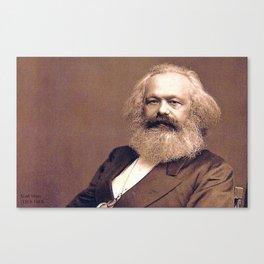Portrait of Karl Marx by John Jabez Edwin Mayal Canvas Print