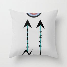 Allison Argent Throw Pillow