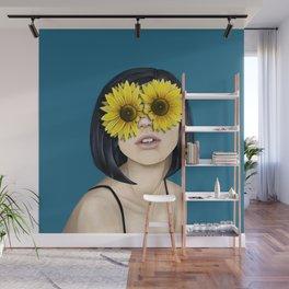 Sunflower Eyes Wall Mural