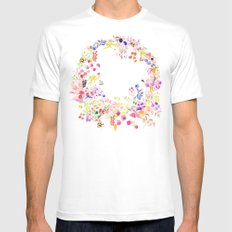 Soft bunnies pink MEDIUM White Mens Fitted Tee