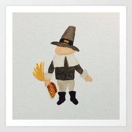 Thanksgiving Pilgrim Puritan Baby Boy Toddler Art Print