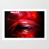 RED MEMORY Art Print