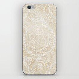 Medallion Pattern in Pale Tan iPhone Skin