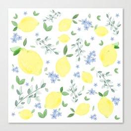 Fresh Lemon Serenade Canvas Print