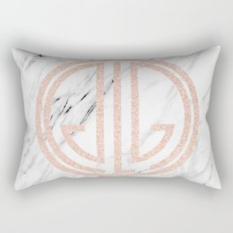 great Gatsby rose gold black and white marble Rectangular Pillow