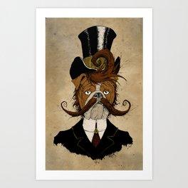 Fine Victorian Bulldog Art Print