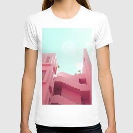 Pink Facade Moon T-shirt