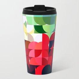 Mixed color Poinsettias 3 Abstract Circles 1 Travel Mug