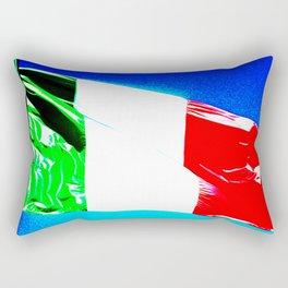 Italian tricolor flag pop Rectangular Pillow