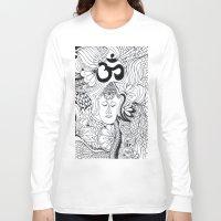 meditation Long Sleeve T-shirts featuring Meditation by Kassidy Kawa