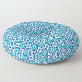Blue Cubes - Geometric Work Floor Pillow