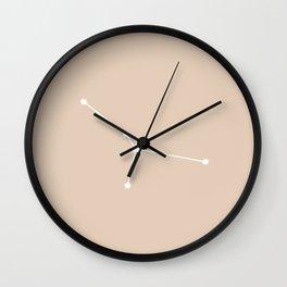 Cancer Zodiac Constellation - Warm Neutral Wall Clock