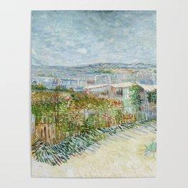 Vegetable Gardens at Montmartre by Vincent van Gogh Poster