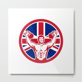 British Physical Fitness Union Jack Flag Icon Metal Print