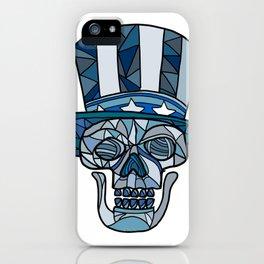 Uncle Sam Skull Mosaic iPhone Case