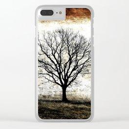 One Fog Tree Warm Clear iPhone Case