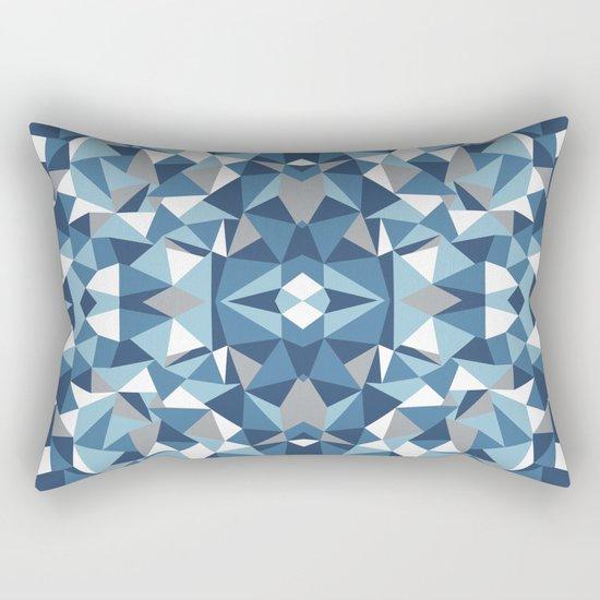 Abstract Collide Blues Rectangular Pillow