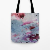 Tote Bags featuring Remains of elderberry soup by Kay Weber