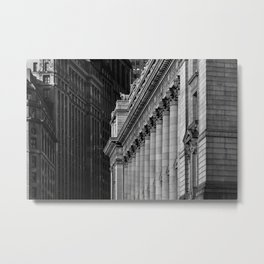 View of Broadway and National Archives at New York City Metal Print