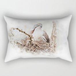 Pigeons cuddling II Rectangular Pillow
