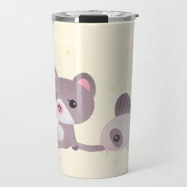 Cat and catfish Travel Mug