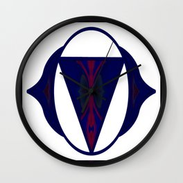 Indigo Connections Abstract Chakra Art Wall Clock
