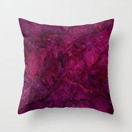 Purple Heavy Metal Throw Pillow