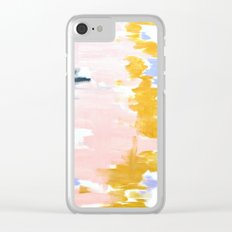 Multicolor spring abstract Clear iPhone Case