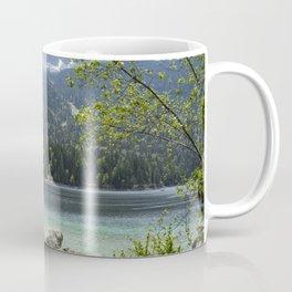 Mountain Lake Eibsee Germany Bavaria Landscape Zugspitze during daytime Coffee Mug