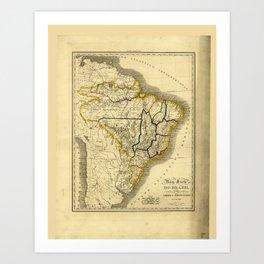 Map of Brazil (1821) Art Print