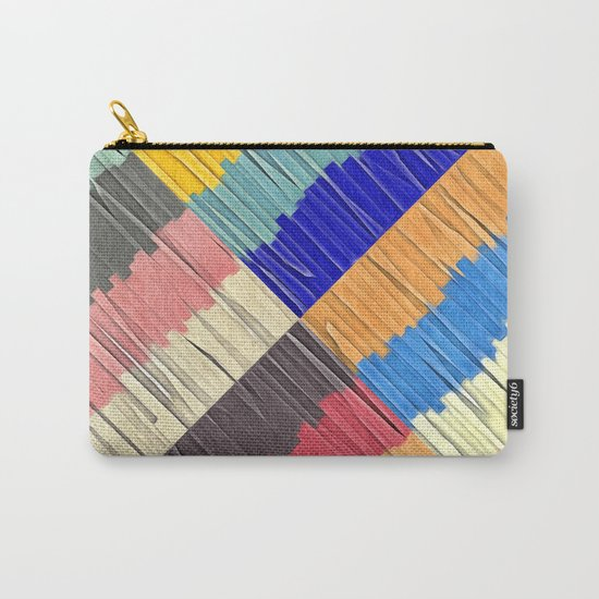 Cool Colors Collage Carry-All Pouch