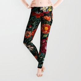 Marijuana and Floral Pattern Leggings