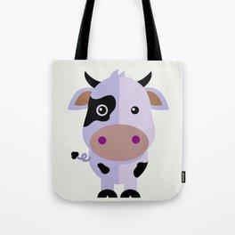 Purple cow by Leslie harlo Tote Bag