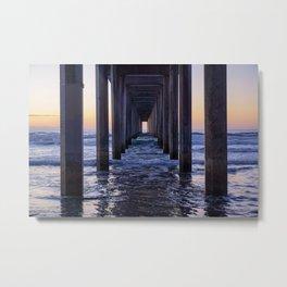 Scripps Pier Metal Print