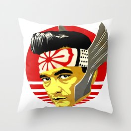 Mighty Karate Kash Throw Pillow