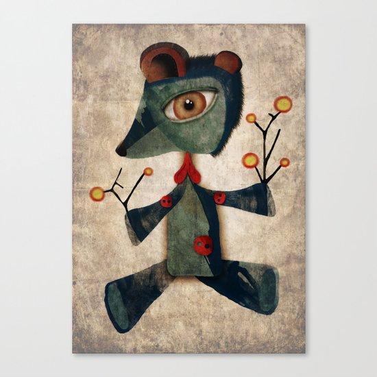 My old teddy bear Canvas Print