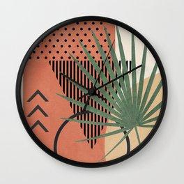 Nature Geometry II Wall Clock