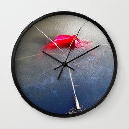 Umbrella Blues 4 Wall Clock
