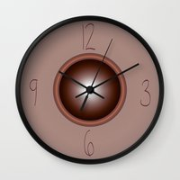 wall clock Wall Clocks featuring wall clock by Christian Haberäcker - acryl abstract