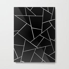 Black White Geometric Glam #2 #geo #decor #art #society6 Metal Print