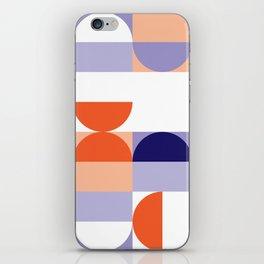 Minimal Bauhaus Semi Circle Geometric Pattern 1 - #bauhaus #minimalist iPhone Skin