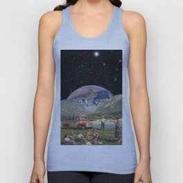 A Ray of Earthshine Unisex Tank Top